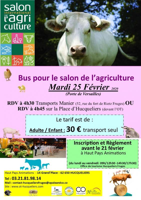 Affiche bus salon agri 2020