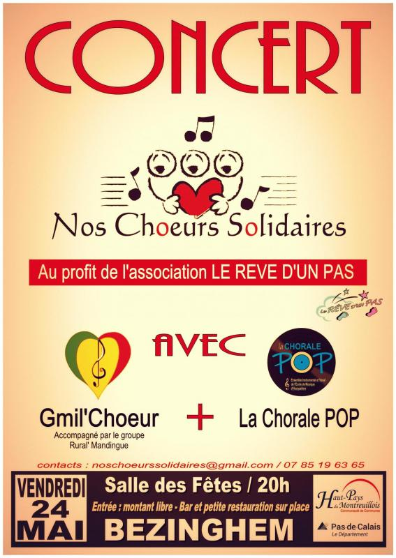 Affiche nos choeurs solidaires 1ere edition