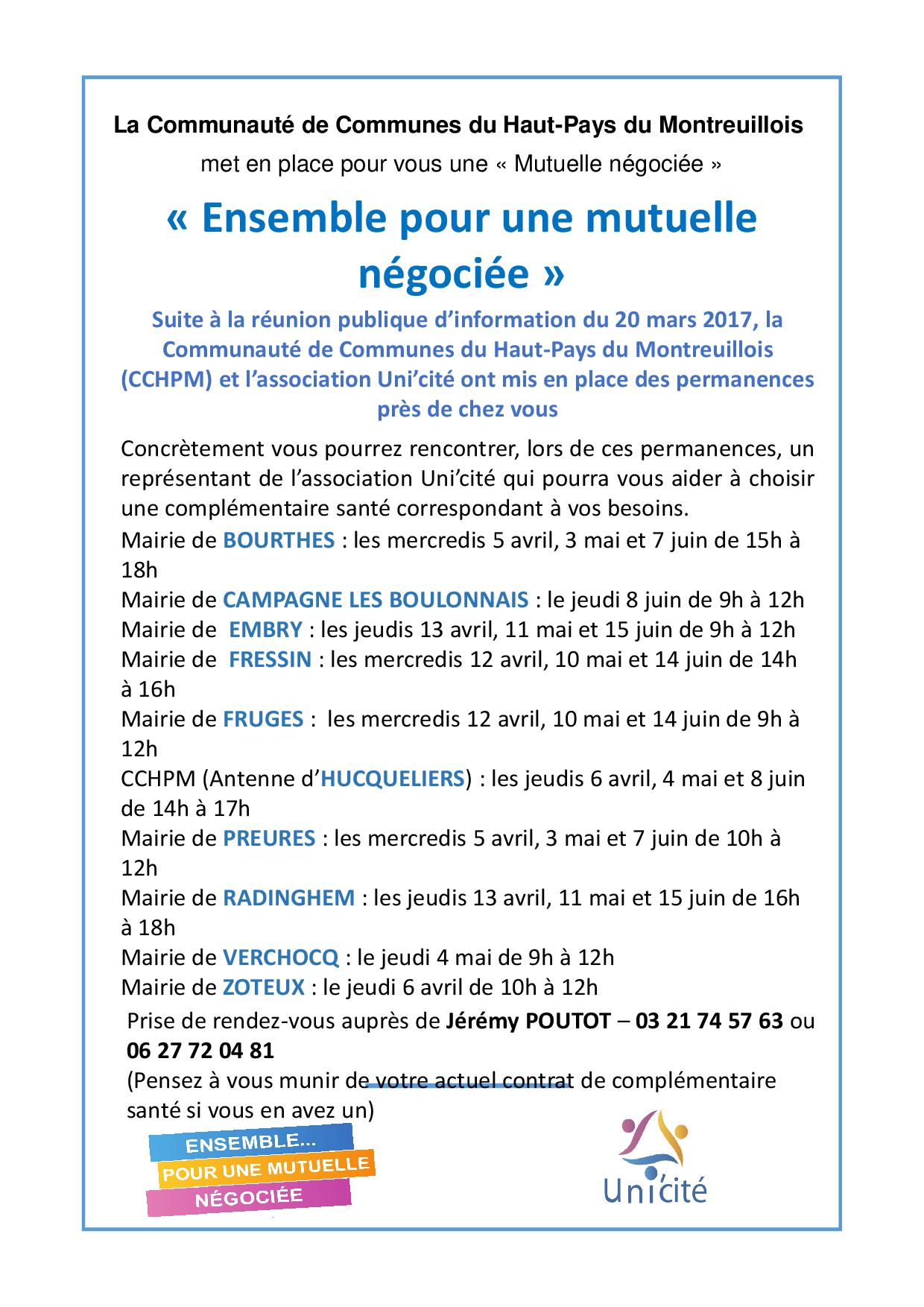 Unicite flyer permanences